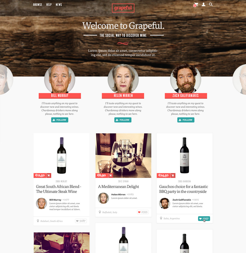 grapeful Website