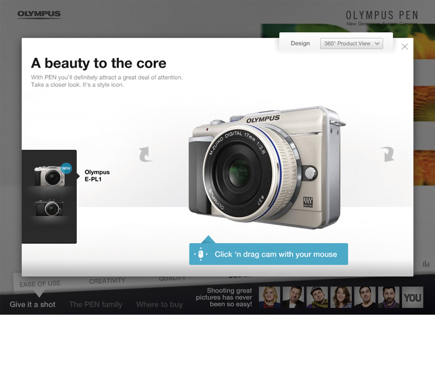 Olympus PEN Website
