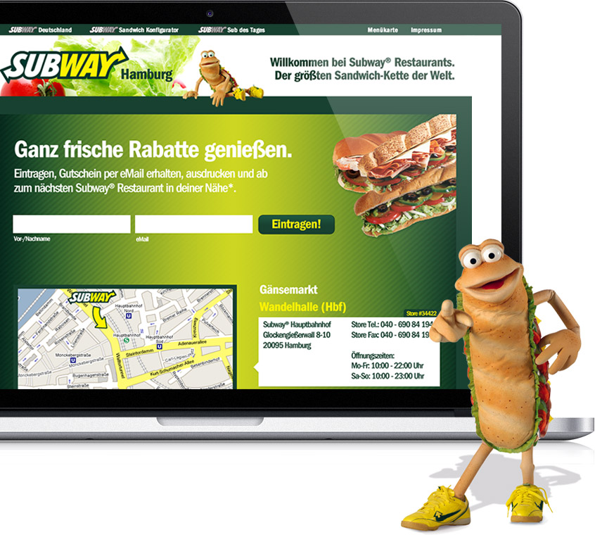 Subway Microsite